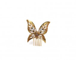 pink buterfly comb